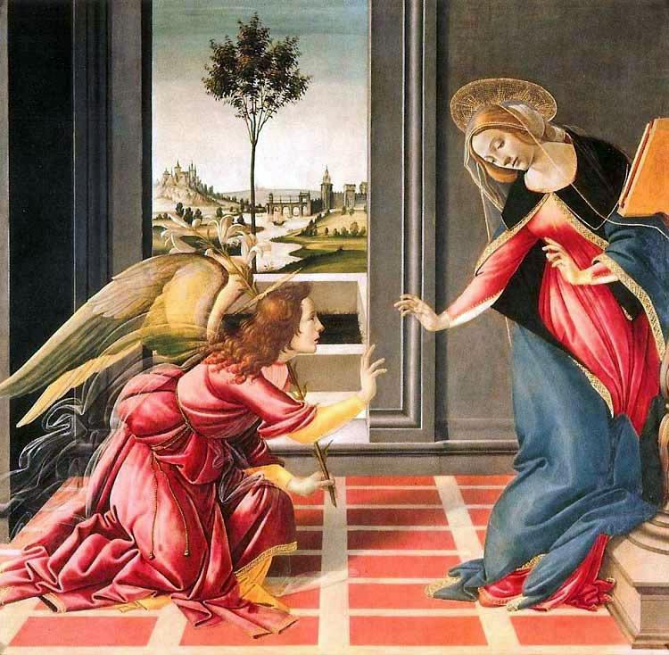 """""""La anunciación a Maria en la pintura renacentista"""""""