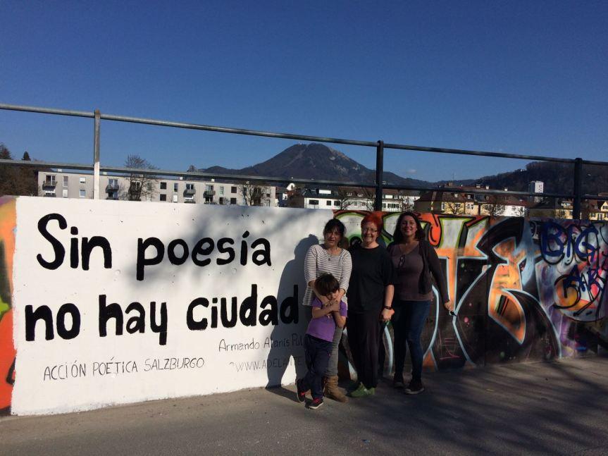 ACCIÓN POÉTICA SALZBURGO llena los muros conpoesía