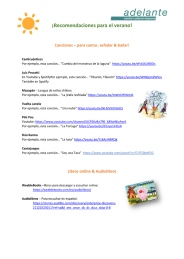Recomendaciones para el verano 2020-1